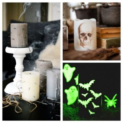 20 Spooky DIY Halloween Candles