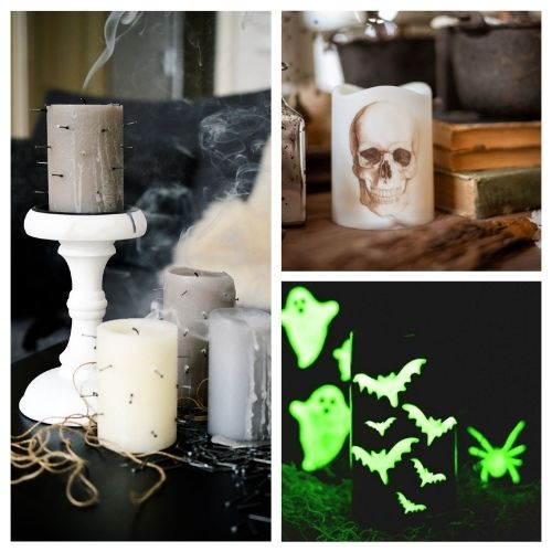 20 Spooky DIY Halloween Candles- These spooky DIY Halloween candles are exactly what your home needs. They are fun to make and creepy enough to add some flair to your space! | #Halloween #diyProjects #diyCandles #HalloweenCrafts #ACultivatedNest