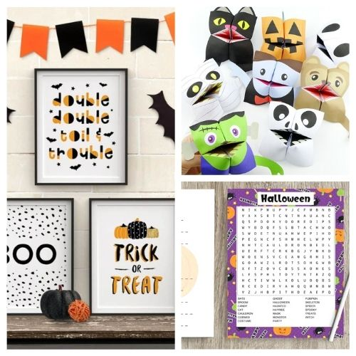 20 Spooky Halloween Free Printables- These spooky Halloween free printables are the perfect way to update your décor for Halloween, or find fun free activities for your kids! | #freePrintables #Halloween #HalloweenPrintables #kidsActivities #ACultivatedNest