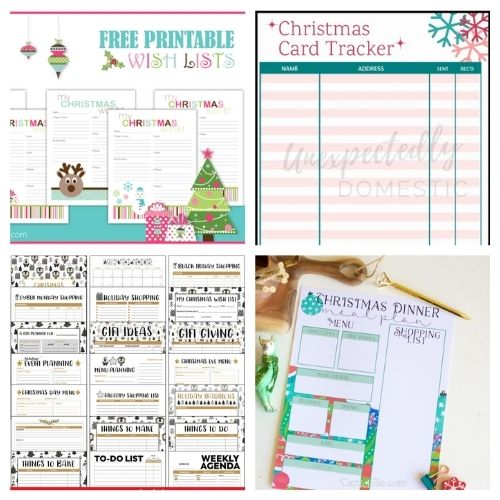 12 Charming Free Christmas Planner Printables- Have a less stressful holiday season with these charming free printable Christmas planners! They are a holiday organizing game-changer! | #freePrintables #Christmas #plannerPrintables #ChristmasPlanner #ACultivatedNest