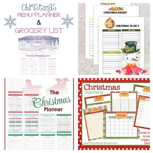 12 Charming Free Holiday Planner Printables- Have a less stressful holiday season with these charming free printable Christmas planners! They are a holiday organizing game-changer! | #freePrintables #Christmas #plannerPrintables #ChristmasPlanner #ACultivatedNest