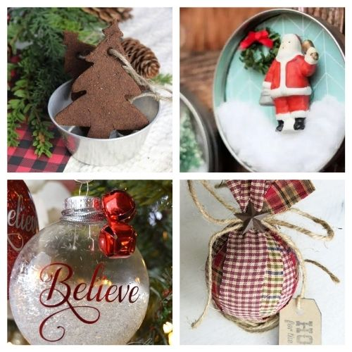 20 Beautiful Christmas Ornament Crafts- Time to get busy making these 20 beautiful DIY Christmas ornaments! They are stylish, festive, and will look stunning on your tree! | #Christmas #crafts #diyOrnaments #ChristmasOrnaments #ACultivatedNest
