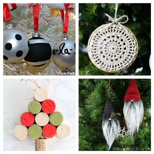 20 Beautiful Homemade Christmas Tree Ornaments- Time to get busy making these 20 beautiful DIY Christmas ornaments! They are stylish, festive, and will look stunning on your tree! | #Christmas #crafts #diyOrnaments #ChristmasOrnaments #ACultivatedNest