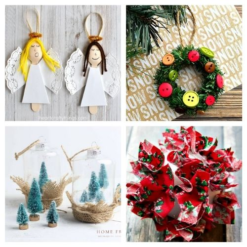 20 Beautiful Homemade Christmas Ornaments- Time to get busy making these 20 beautiful DIY Christmas ornaments! They are stylish, festive, and will look stunning on your tree! | #Christmas #crafts #diyOrnaments #ChristmasOrnaments #ACultivatedNest