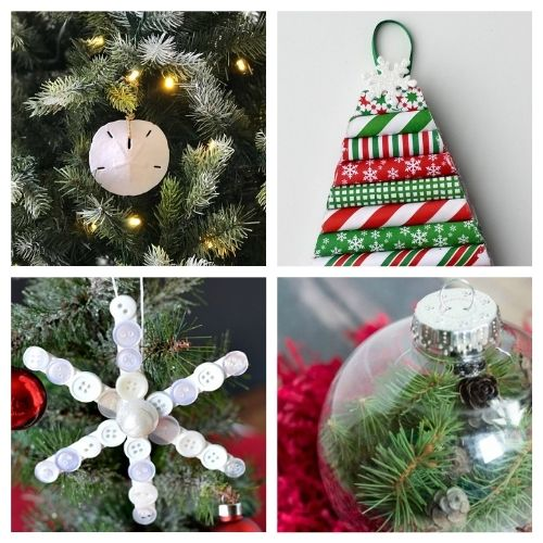 20 Beautiful Christmas Ornament DIYs- Time to get busy making these 20 beautiful DIY Christmas ornaments! They are stylish, festive, and will look stunning on your tree! | #Christmas #crafts #diyOrnaments #ChristmasOrnaments #ACultivatedNest