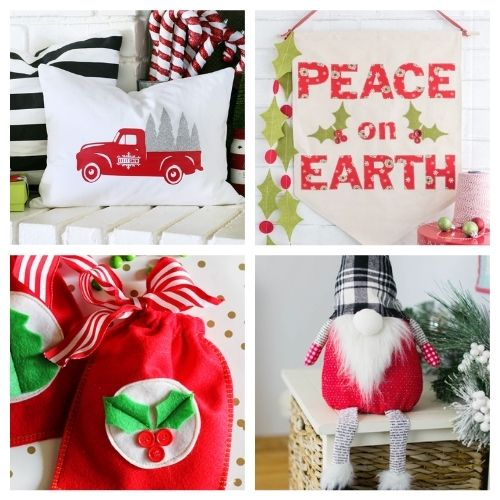 20 Charming Holiday Sewing DIY Projects- These charming Christmas sewing projects are great for beginners, are so fun to make, and are a festive touch to add to your home's décor! | #ChristmasCrafts #ChristmasDIY #sewingProjects #ChristmasSewing #ACultivatedNest