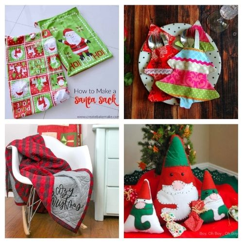 20 Charming Christmas Sewing Projects for Beginners- These charming Christmas sewing projects are great for beginners, are so fun to make, and are a festive touch to add to your home's décor! | #ChristmasCrafts #ChristmasDIY #sewingProjects #ChristmasSewing #ACultivatedNest