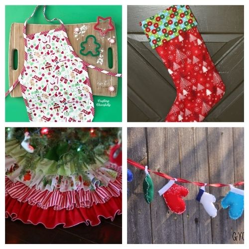 20 Charming Holiday Sewing Projects- These charming Christmas sewing projects are great for beginners, are so fun to make, and are a festive touch to add to your home's décor! | #ChristmasCrafts #ChristmasDIY #sewingProjects #ChristmasSewing #ACultivatedNest
