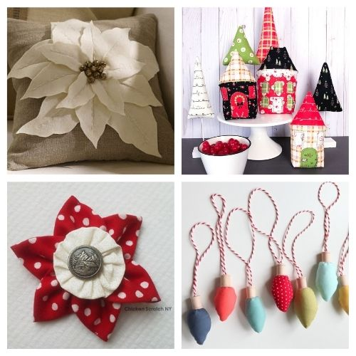 20 Charming Holiday Sewing Crafts- These charming Christmas sewing projects are great for beginners, are so fun to make, and are a festive touch to add to your home's décor! | #ChristmasCrafts #ChristmasDIY #sewingProjects #ChristmasSewing #ACultivatedNest