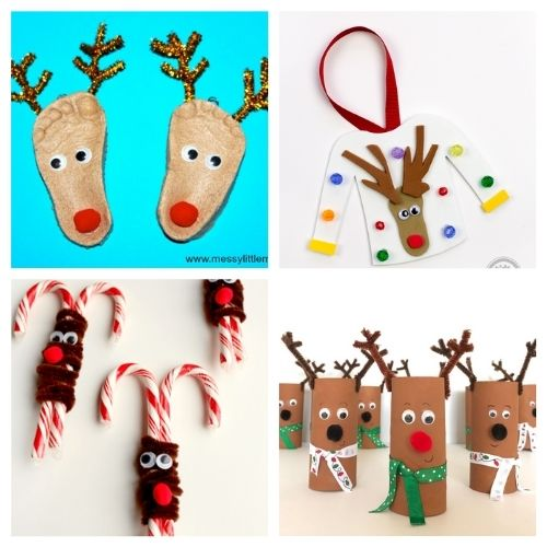20 Christmas Reindeer Crafts for Kids- Get the family together and make these Christmas reindeer kids crafts this holiday season! They're so fun and easy to make! | #kidsActivities #kidsCrafts #ChristmasCrafts #ChristmasKidsCrafts #ACultivatedNest