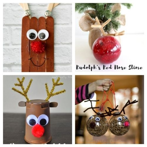 20 Reindeer Christmas Kids Crafts- Get the family together and make these Christmas reindeer kids crafts this holiday season! They're so fun and easy to make! | #kidsActivities #kidsCrafts #ChristmasCrafts #ChristmasKidsCrafts #ACultivatedNest
