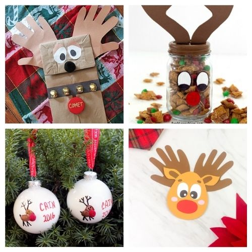 20 Reindeer Christmas Crafts for Kids- Get the family together and make these Christmas reindeer kids crafts this holiday season! They're so fun and easy to make! | #kidsActivities #kidsCrafts #ChristmasCrafts #ChristmasKidsCrafts #ACultivatedNest