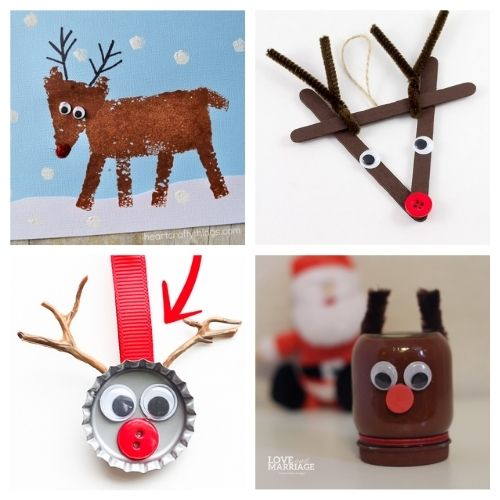 20 Christmas Reindeer Kids Activities- Get the family together and make these Christmas reindeer kids crafts this holiday season! They're so fun and easy to make! | #kidsActivities #kidsCrafts #ChristmasCrafts #ChristmasKidsCrafts #ACultivatedNest