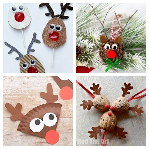 20 Reindeer Christmas Kids Activities- Get the family together and make these Christmas reindeer kids crafts this holiday season! They're so fun and easy to make! | #kidsActivities #kidsCrafts #ChristmasCrafts #ChristmasKidsCrafts #ACultivatedNest