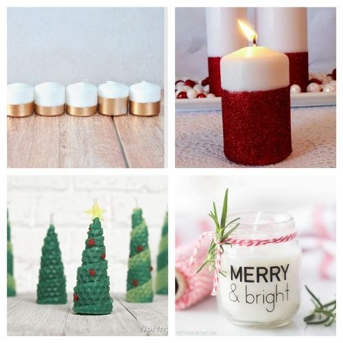 20 Gorgeous DIY Holiday Candles- These gorgeous DIY Christmas candles are the perfect way to spruce up your space for the holidays! And they make lovely DIY gifts, too! | #Christmas #diyCandles #ChristmasCrafts #ChristmasDIYs #ACultivatedNest