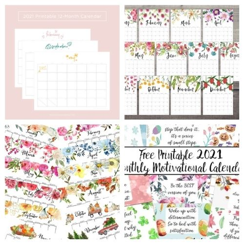 20 Free 2021 Printable Calendars- These lovely free printable 2021 calendars are just what you need! They are perfect for your home office or planning your schedule. | #freePrintables #printables #calendars #2021Calendars #ACultivatedNest