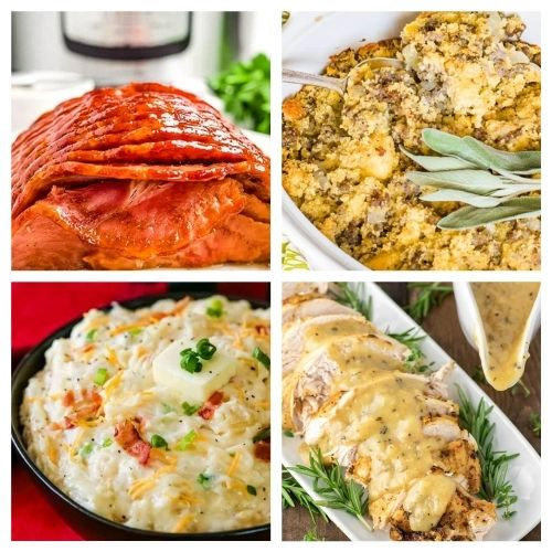 20 Thanksgiving Main Dish and Side Dish Recipes- These traditional Thanksgiving dinner recipes will leave your holiday table looking stunning and your guests happy! | #recipes #Thanksgiving #ThanksgivingDinner #ThanksgivingRecipes #ACultivatedNest