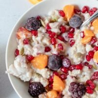 Comforting Winter Oatmeal Breakfast Recipe - Start your morning right with a bowl of this Comforting Winter Oatmeal Breakfast Recipe. It's incredible flavors will thrill your tastebuds! #ACultivatedNest