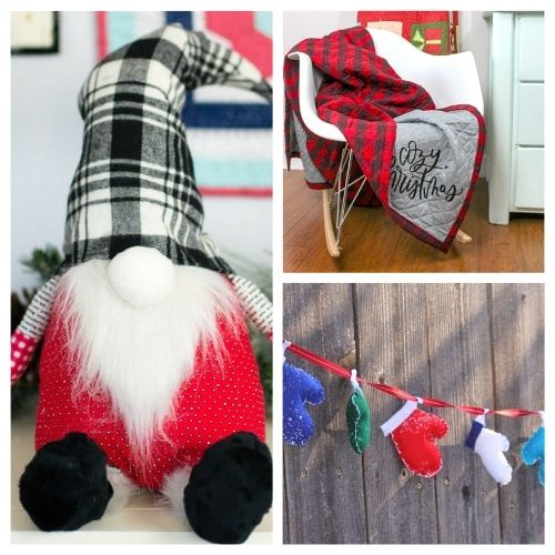 20 Charming Christmas Sewing Projects- These charming Christmas sewing projects are great for beginners, are so fun to make, and are a festive touch to add to your home's décor! | #ChristmasCrafts #ChristmasDIY #sewingProjects #ChristmasSewing #ACultivatedNest