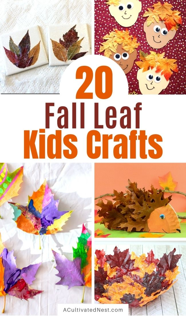20 Creative Fall Leaf Kids Crafts- These creative fall leaf kids crafts are fun for kids of all ages, and are very budget-friendly, too! | #kidsCrafts #fallCrafts #kidsActivities #crafts #ACultivatedNest
