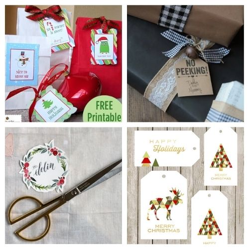 20 Free Christmas Tag Printables- These 20 free printable Christmas tags and labels are a beautiful addition to gifts for friends and loved ones! | #freePrintable #printables #ChristmasTags #ChristmasLabels #ACultivatedNest