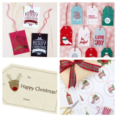 20 Free Printable Holiday Tags- These 20 free printable Christmas tags and labels are a beautiful addition to gifts for friends and loved ones! | #freePrintable #printables #ChristmasTags #ChristmasLabels #ACultivatedNest