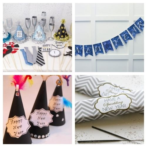 20 Brilliant Free New Year's Printables- These New Year's Eve free printables will get you all set for fun and help you celebrate in style as you get ready for the new year! | #NewYearsEve #NewYear #freePrintables #printables #ACultivatedNest