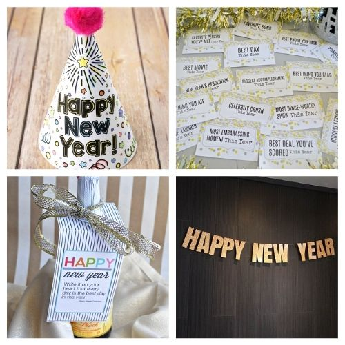 20 Brilliant New Year's Free Printables- These New Year's Eve free printables will get you all set for fun and help you celebrate in style as you get ready for the new year! | #NewYearsEve #NewYear #freePrintables #printables #ACultivatedNest