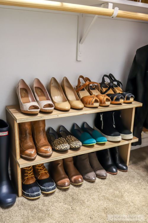 10 Genius Shoe DIY Organization Solutions- Get rid of the shoe chaos and use these genius DIY shoe storage solutions instead! They're the perfect way to get your shoes organized! | #organization #organizingTips #shoeOrganization #DIY #ACultivatedNest