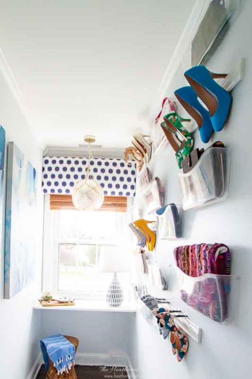 10 Genius DIY Shoe Organization Ideas- Get rid of the shoe chaos and use these genius DIY shoe storage solutions instead! They're the perfect way to get your shoes organized! | #organization #organizingTips #shoeOrganization #DIY #ACultivatedNest