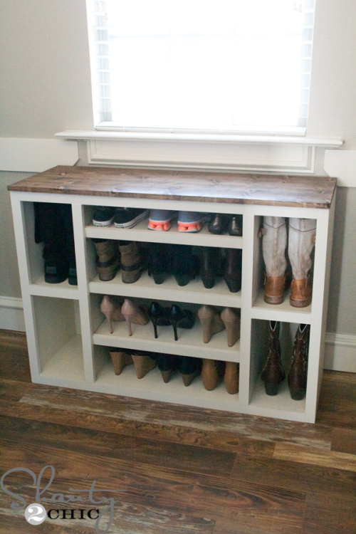 10 Genius Shoe Storage Solutions You Can Make- Get rid of the shoe chaos and use these genius DIY shoe storage solutions instead! They're the perfect way to get your shoes organized! | #organization #organizingTips #shoeOrganization #DIY #ACultivatedNest