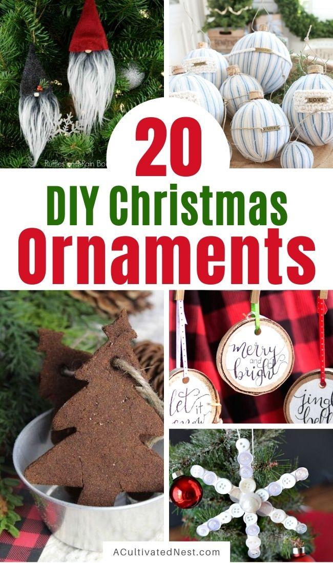 20 Beautiful DIY Christmas Ornaments