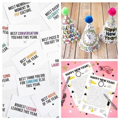 20 Brilliant New Year's Eve Free Printables