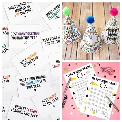 20 Brilliant New Year's Eve Free Printables- These New Year's Eve free printables will get you all set for fun and help you celebrate in style as you get ready for the new year! | #NewYearsEve #NewYear #freePrintables #printables #ACultivatedNest