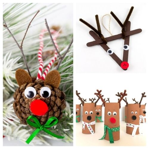 20 Christmas Reindeer Kids Crafts- Get the family together and make these Christmas reindeer kids crafts this holiday season! They're so fun and easy to make! | #kidsActivities #kidsCrafts #ChristmasCrafts #ChristmasKidsCrafts #ACultivatedNest