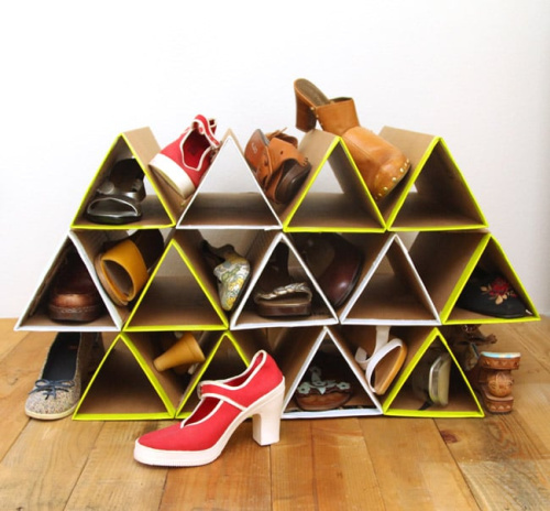 10 Genius Shoe DIY Organization Ideas- Get rid of the shoe chaos and use these genius DIY shoe storage solutions instead! They're the perfect way to get your shoes organized! | #organization #organizingTips #shoeOrganization #DIY #ACultivatedNest