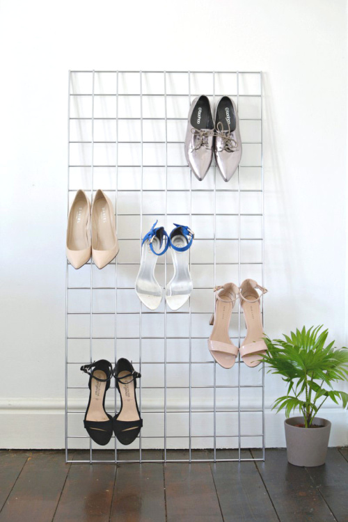 10 Genius Shoe DIY Organizers- Get rid of the shoe chaos and use these genius DIY shoe storage solutions instead! They're the perfect way to get your shoes organized! | #organization #organizingTips #shoeOrganization #DIY #ACultivatedNest