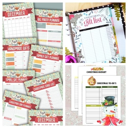 12 Charming Free Printable Christmas Planners- Have a less stressful holiday season with these charming free printable Christmas planners! They are a holiday organizing game-changer! | #freePrintables #Christmas #plannerPrintables #ChristmasPlanner #ACultivatedNest
