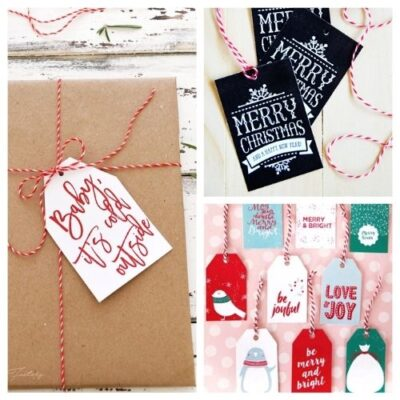 20 Free Printable Christmas Tags and Labels