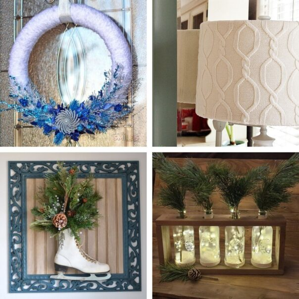 20 DIY Winter Décor Projects for After Christmas- It can be tricky to decorate your home for winter after Christmas, but with these 20 DIY winter décor projects your home will look lovely! | #winterDecor #winterDecorating #diyProjects #DIY #ACultivatedNest