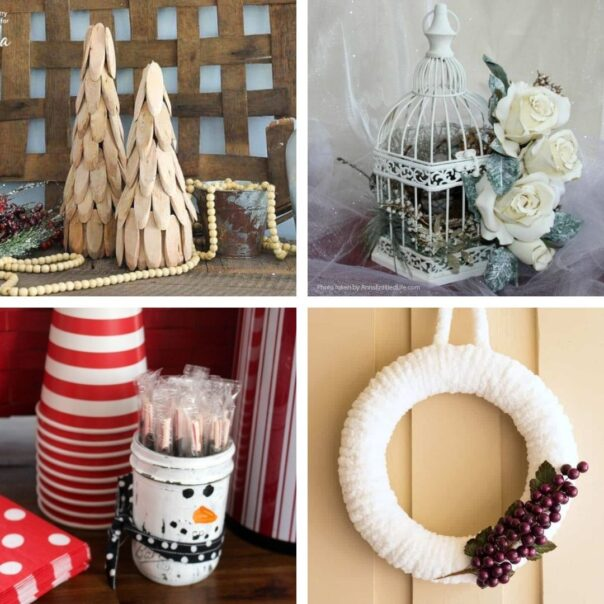 20 DIY Décor Projects for Winter- It can be tricky to decorate your home for winter after Christmas, but with these 20 DIY winter décor projects your home will look lovely! | #winterDecor #winterDecorating #diyProjects #DIY #ACultivatedNest