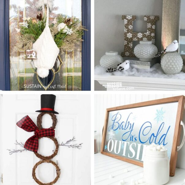 20 Winter Décor DIY Projects for After Christmas- It can be tricky to decorate your home for winter after Christmas, but with these 20 DIY winter décor projects your home will look lovely! | #winterDecor #winterDecorating #diyProjects #DIY #ACultivatedNest