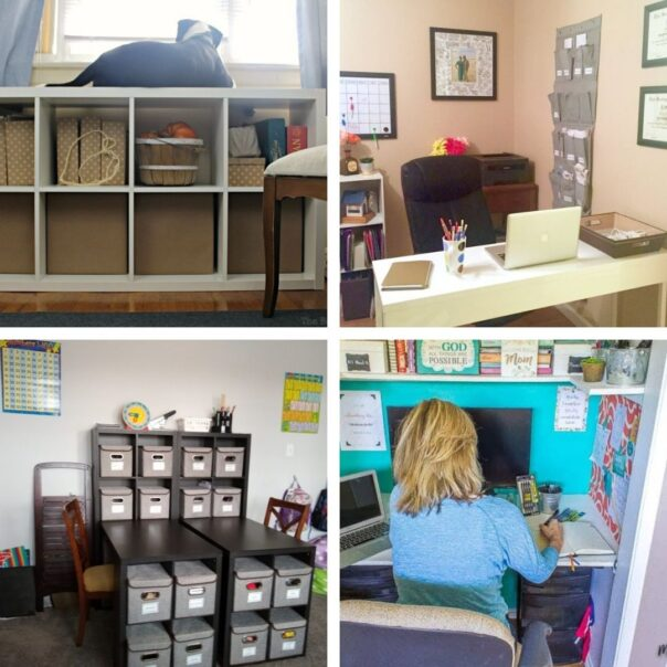 20 DIY Office Organizers- It's much easier to have a productive day if your space is organized! For some great ideas, check out these DIY office organizing solutions! | #organizingTips #officeOrganization #organization #organize #ACultivatedNest