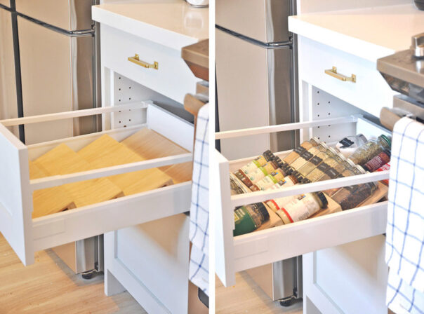 12 Space Saving Kitchen Organization Tips- If you want to be able to find things fast in your kitchen, you need to check out these space saving kitchen drawer organization ideas! | #organizingTips #homeOrganization #kitchenOrganization #organizing #ACultivatedNest