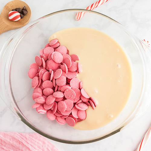 Delicious Peppermint Holiday Fudge- For a special treat this holiday season, you have to make this delicious homemade peppermint fudge! It also makes a great DIY food gift! | homemade food gift, Christmas dessert ideas, homemade fudge recipe, #fudge #dessert #dessertRecipes #peppermintRecipes #ACultivatedNest