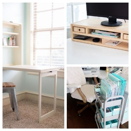 20 DIY Office Organizing Solutions- It's much easier to have a productive day if your space is organized! For some great ideas, check out these DIY office organizing solutions! | #organizingTips #officeOrganization #organization #organize #ACultivatedNest