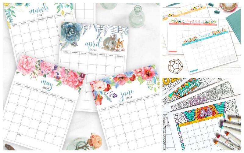 20 Free Printable 2021 Calendars