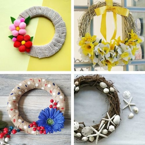 20 Beautiful DIY Dollar Store Spring Wreaths- Decorate your home for spring on a budget with these beautiful dollar store DIY spring wreaths! They're easy to make, and look beautiful! | #springDecor #diyProjects #diyWreaths #wreaths #ACultivatedNest