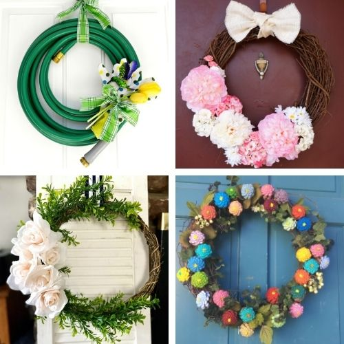 20 Beautiful Dollar Store Spring Wreath Projects- Decorate your home for spring on a budget with these beautiful dollar store DIY spring wreaths! They're easy to make, and look beautiful! | #springDecor #diyProjects #diyWreaths #wreaths #ACultivatedNest