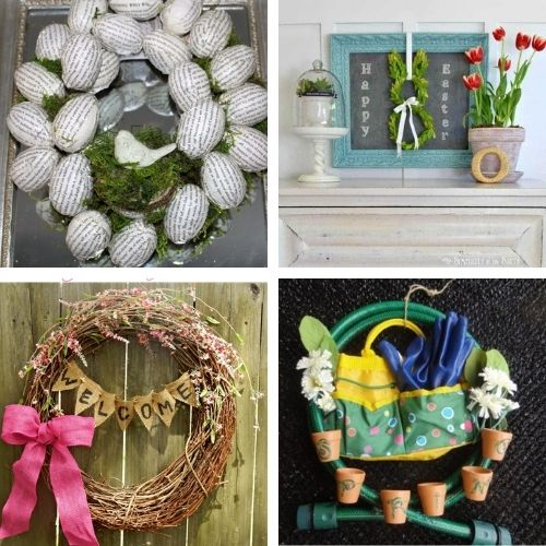 20 Beautiful Dollar Store Wreath DIY Projects for Spring- Decorate your home for spring on a budget with these beautiful dollar store DIY spring wreaths! They're easy to make, and look beautiful! | #springDecor #diyProjects #diyWreaths #wreaths #ACultivatedNest